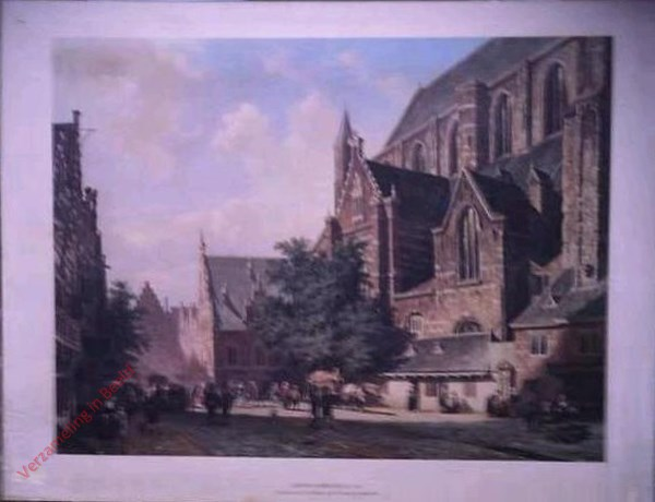 St Bavo en de vleeshal in Haarlem